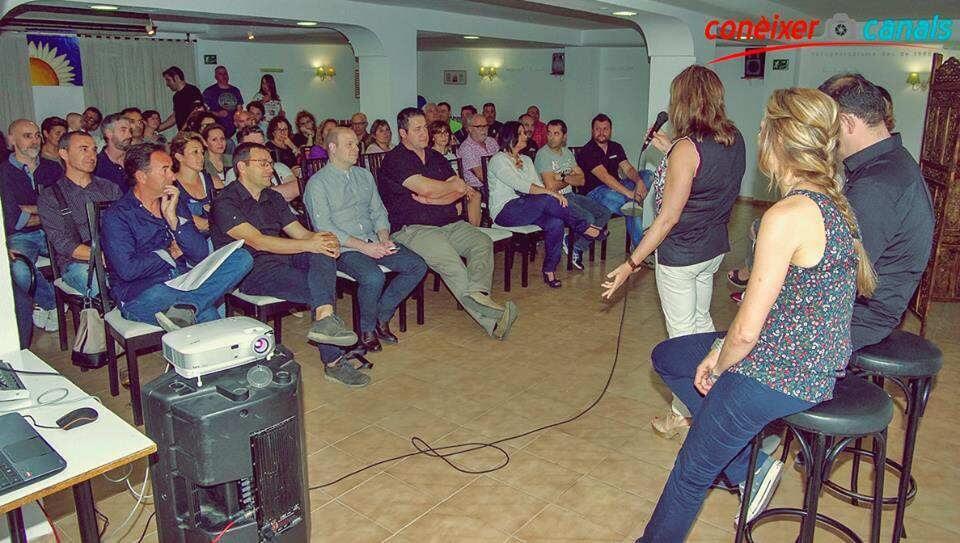 Presentació oficial d'Associem Canals el  passat  26  de  maig